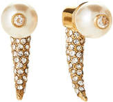Vince Camuto Gold-Tone Horn-Shaped Faux Pearl Earrings