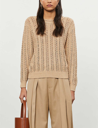 Reiss Silvie open cotton-knit jumper
