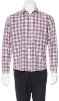 Billy Reid Standard Cut Plaid Shirt