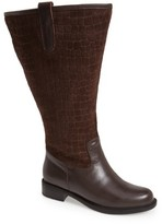 David Tate Women's 'Best' Calfskin Leather & Suede Boot