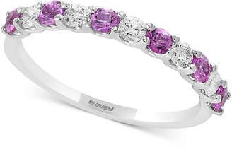 Effy Gemstone Bridal by Emerald (1/2 ct. t.w.) & Diamond (1/4 ct. t.w.) Band in 18k White Gold (Also Available in Ruby, Sapphire, & Pink Sapphire)