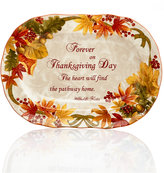 222 Fifth Holiday Autumn Celebration Oval Platter