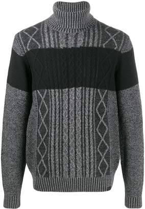Trussardi Jeans maxi-stripe relaxed-fit jumper