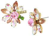 Betsey Johnson Flat Out Floral Flower Stud Earrings