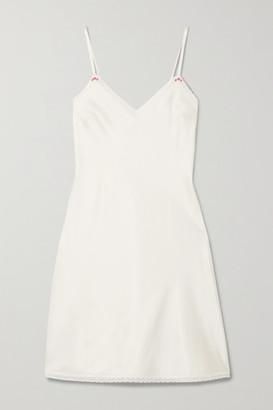 Morgan Lane Sienna Stretch-silk Charmeuse Chemise - Ivory