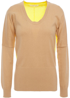 Chinti and Parker Two-tone Cotton And Cashmere-blend Sweater
