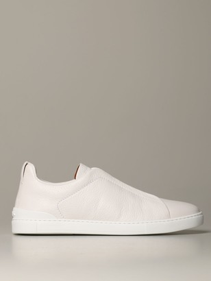 Ermenegildo Zegna Sneakers Triple Stitch Light Sneakers In Deerskin
