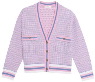 Sandro Lyna Cropped Tweed Cardigan