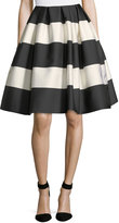 Carolina Herrera Striped Taffeta Party Skirt