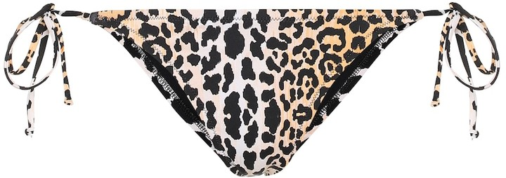 Reina Olga Love Triangle leopard-print bikini bottoms
