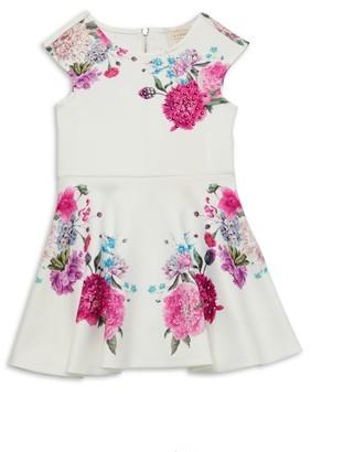 Hannah Banana Little Girl's Embellished Floral Fit-&-Flare Dress