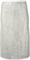 Vanessa Bruno metallic (Grey) knit skirt