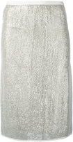 Vanessa Bruno metallic knit skirt - women - Polyester/Viscose - 36
