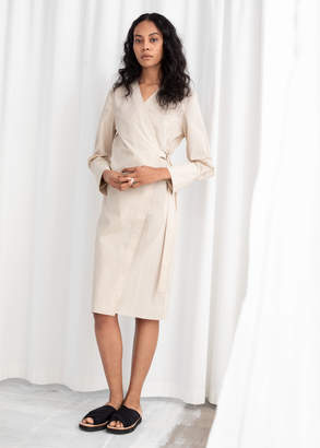 And other stories Belted Cotton Shirt Dress