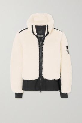 Toni Sailer Rika Tech Jersey-trimmed Wool-blend Faux Shearling Ski Jacket - White