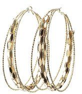 Charlotte Russe Oversize Textured Hoop Earrings