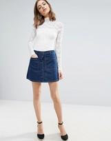 Vero Moda Boxy Denim Skirt