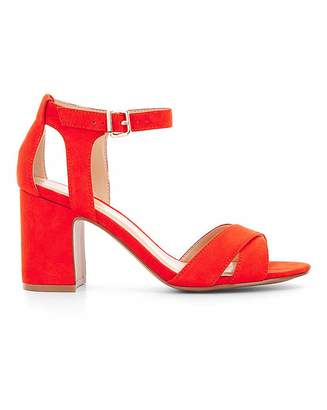 Simply Be Helen Mid Block Heel Wide Fit