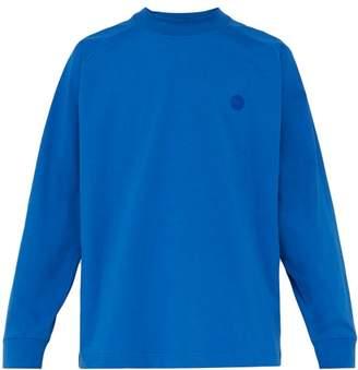 Acne Studios Carp Cotton Jersey Sweatshirt - Mens - Blue