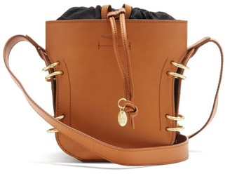 See by Chloe Alvy Ring-embellished Leather Bucket Bag - Tan