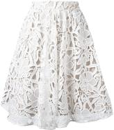Alice + Olivia Alice+Olivia - floral lace skirt - women - Nylon/Polyester - 6