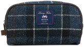 Barbour checked wash bag