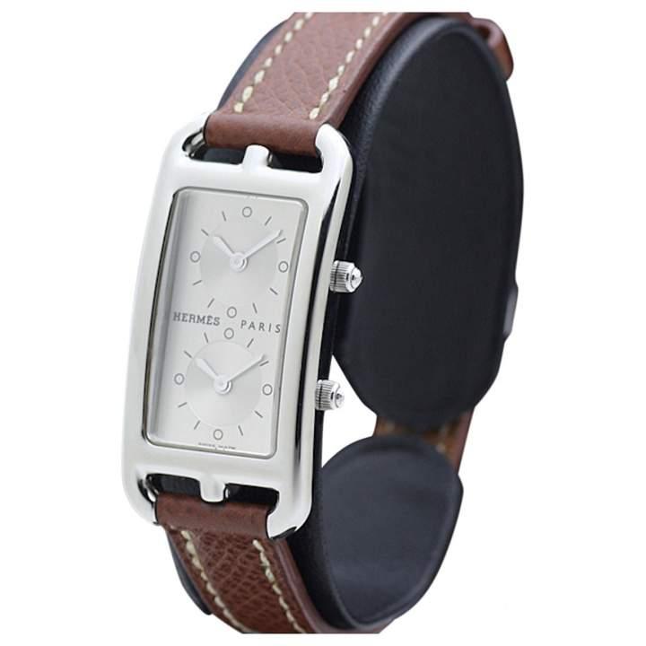 Hermes Cape Cod Brown Steel Watches