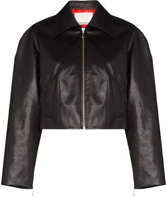 Samuel Guì Yang Cropped Zip-Front Jacket