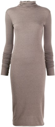 Rick Owens Lilies knitted roll neck dress
