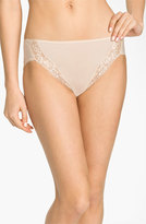 Wacoal Women's 'Bodysuede' Lace Trim High Cut Briefs