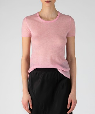 Atm Feather Weight Cashmere Crew Neck Tee - Ballet Pink