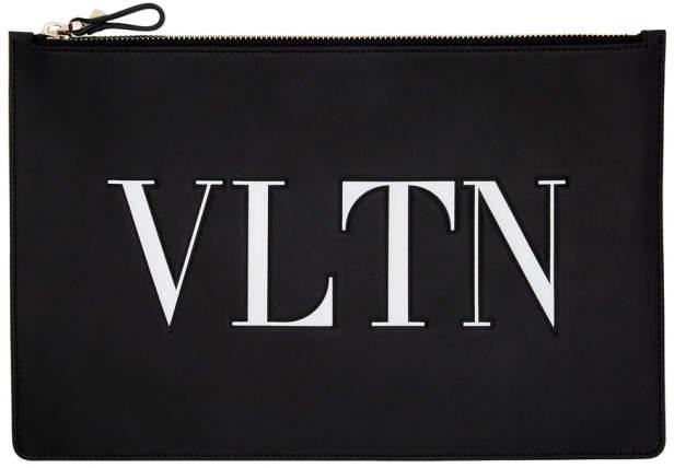 Valentino Black Garavani Large VLTN Pouch
