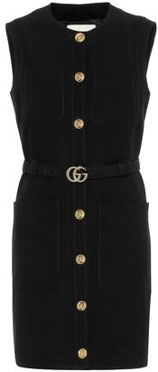 Gucci Silk and wool minidress