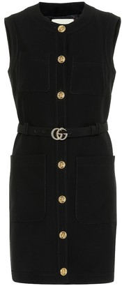 Gucci Silk and wool minidress