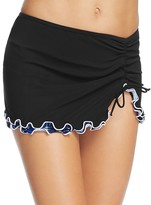 Profile by Gottex Indigo Girl Side Slit Skirted Tankini Bottom