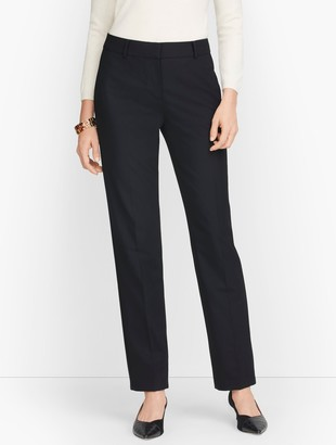 Talbots Luxe Wool Straight Leg Pants - Black - Curvy Fit