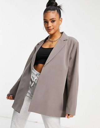 Public Desire tailored blazer in grey