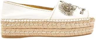 Prada White Leather Mules & Clogs