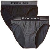Rochas Men's Plain or unicolor Boxer Briefs - Blue -