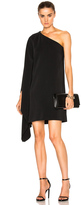Rosetta Getty One Shoulder Scarf Dress