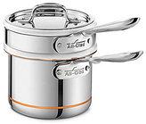 All-Clad Copper Core 2-Qt. Saucepan with Double Boiler Insert & Lid