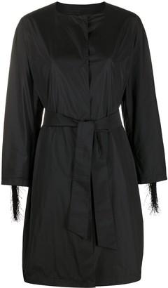 Herno Fringe-Trimmed Belted Coat