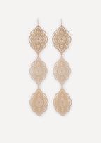 Bebe Filigree 3-Drop Earrings