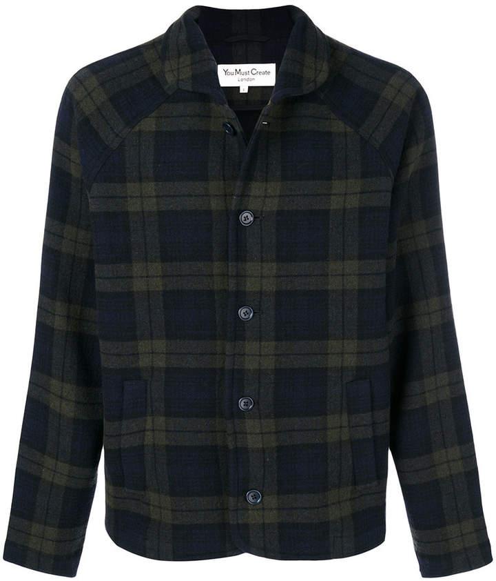 YMC tartan print shirt
