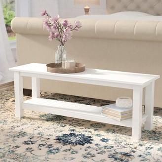 "Birch Laneâ""¢ Heritage Genevieve Wood Storage Bench Birch Lanea Heritage Color: White"