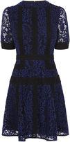 Karen Millen Lace Panel Dress - Blue/multi
