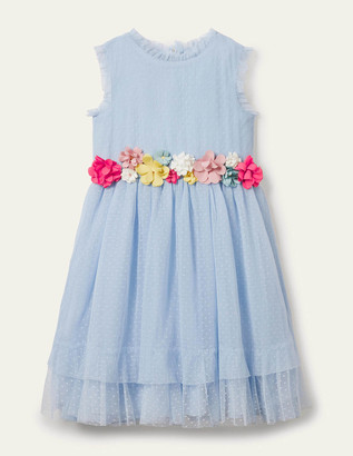 Boden Floral Corsage Tulle Dress