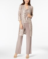 Thumbnail for your product : R & M Richards 3-Pc. Sequined Lace Pantsuit & Jacket