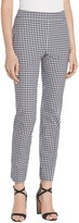 St. John Stretch Macro Gingham Ankle Pants