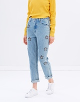 MinkPink Cosmos Crystal Patch Scando Jeans
